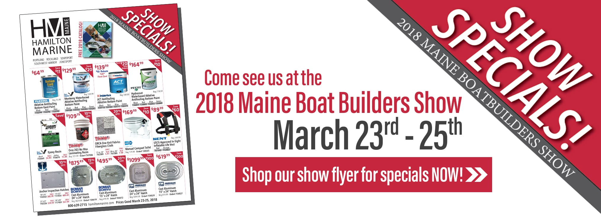 Maine Boat Builders Show Specials!