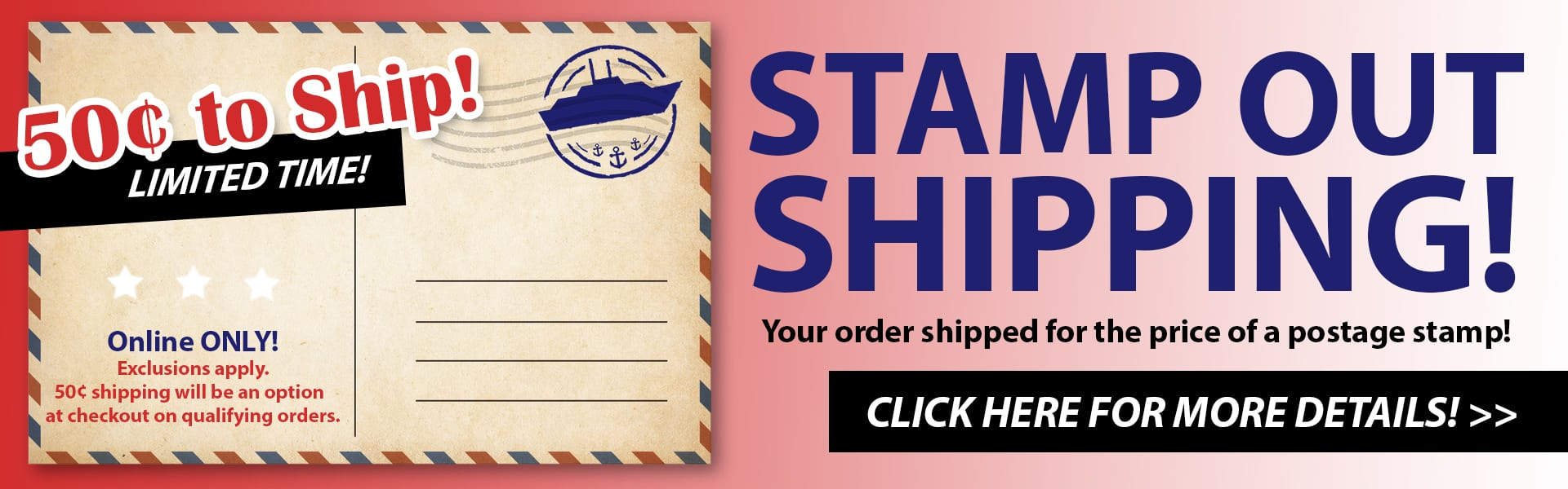 Stamp Out Shipping!